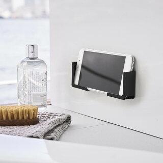 マグネットバスルームタブレットホルダータワーtower風呂浴室スタンド49814982錆びにくい磁石iPad端末PCスマホスマートフォンホルダー固定ホワイトブラックコンパクトシンプルラック棚置きTV強力マグネット山崎実業yamazaki白黒