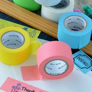 水性ペンで書けるマスキングテープ 小巻 24mm幅 FA05 maste マステ MARK'S マークス 収納 ラベリング 名前 整理整頓 パステル ビビット 白 ホワイト 方眼 デコレーション アレンジ シール かわいい