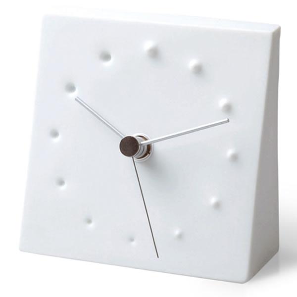 置き時計 【Lemnos レムノス】FIREWORKS ファイヤーワークス KC10-14 置き時計 塚本カナエ 白磁 置時計 デザインクロック デザイン時計 インテリア時計   テーブルクロック 引っ越し祝い 新築祝い 贈り物 おき時計 おしゃれ かわいい クロック 置き とけい
