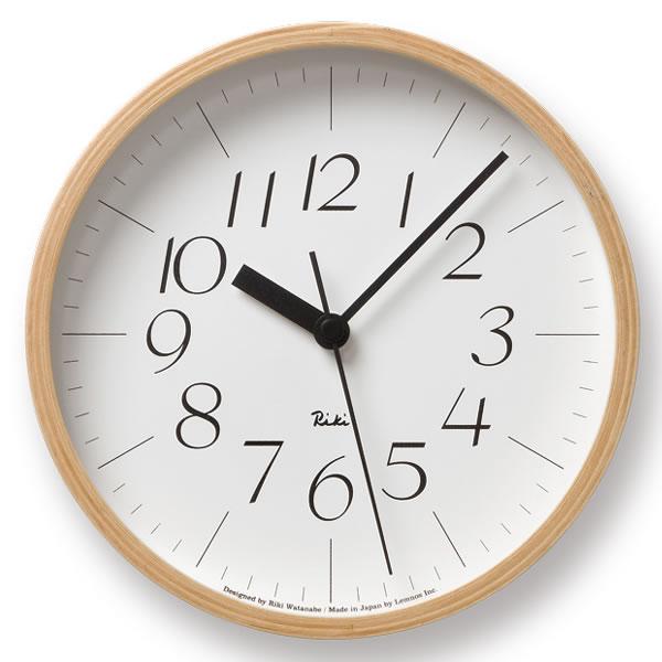 掛け時計【Lemnos レムノス】Riki clock リキクロック Sサイズ WR-0312S WR-0401S 渡辺 カ 壁掛け 壁掛け時計 掛時計 時計 おしゃれ かわいい 北欧 クロック | 引っ越し祝い 新築祝い 贈り物 リビング ウォールクロック かけ時計 インテリア 雑貨 引越し祝い 【送料無料】