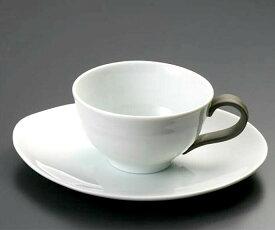 【1客】瀬戸焼青白磁コーヒー碗皿 径9.8cm 約210ml 陶磁器 ティー用品 ティーセット 碗皿 ホット アイス コーヒー 紅茶 ハーブティー 洋風 おしゃれ
