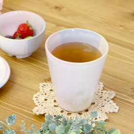【1個】Shikisaiカップピンクブルー 萩焼 Shikisai 陶器 陶製 食器 日本製 国産 淡い カップ 実用的 50代 60代 70代 早割 母の日 プレゼント ギフト 贈り物