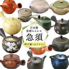 【1個】日本製急須[型柄おまかせ] 日本製 常滑焼 急須 陶磁器 陶器 磁器 お茶 緑茶 煎茶 口径7〜10.5cm 300〜450ml 茶こし一体型 お茶 緑茶 約2〜3人用 おすすめ おまかせ 人気 ギフト 贈り物 プレゼント 二人用 三人用
