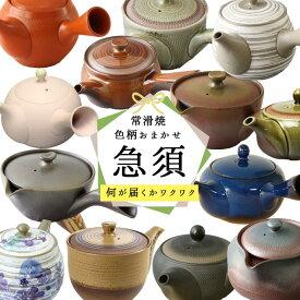 【1個】食器 常滑焼陶製茶こし急須[色柄おまかせ] 日本製 常滑焼 急須 陶磁器 陶器 磁器 お茶 緑茶 煎茶 口径6.3〜10.3cm 200〜450ml 陶製茶こし 茶こし一体型 お茶 緑茶 約1〜3人用 おすすめ おまかせ 人気 ギフト 贈り物 プレゼント