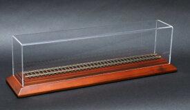 天賞堂 鉄道模型 HOゲージ用ディスプレイケース 08001 車輌展示用レール付 展示ケース 16.5mmゲージ