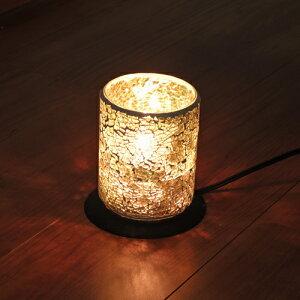 モザイクランプ テーブルランプ モザイクガラス ガラス シリンダー シャンパンゴールド 卓上 おしゃれ 照明器具 インテリア オブジェ