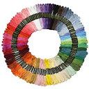【おまけ付き】 100本50色 カラー豊富で きれい! 刺繍糸 セット (宅急便 送料無料) (赤 ピンク 橙 緑 青 紫 白 黄色 …