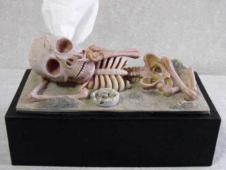 Funny. gadgets-tissue cover-tissue box-tissue holder-skull-skeleton-skull