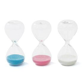 砂時計 3分 置時計 おしゃれ ガラス きれいな砂のインテリア サンドグラス-3