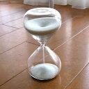砂時計 5分 ガラス きれいな砂のインテリア サンドグラス-5(ホワイト)