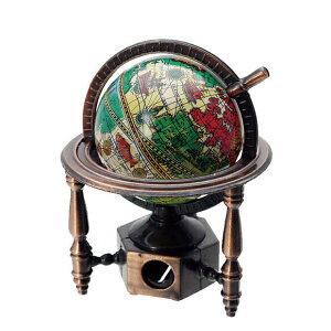 アンティークシャープナー 地球儀A 鉛筆削り 手動 おもしろ雑貨文具