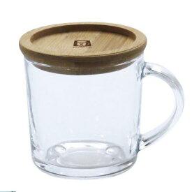 マグカップ フタ付 ガラス おしゃれ かわいい good day cafe smile ガラスマグ