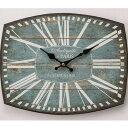 オールドルック ウォールクロック レクタングル AN..PARIS 時計 壁掛け アナログ アンティーク アメリカン雑貨 壁掛け時計
