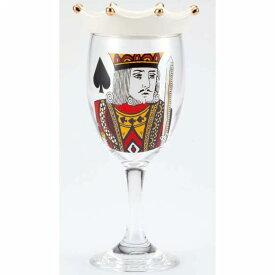 ワイングラス コップ ガラス トランプワイングラス キング