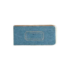 TOOLS DENIM STICKY LABEL BLUE (6個セット) 付箋 メモ スティックラベル クラフト紙 無地 再生紙 リサイクルペーパー デニム生地 文房具 ブルー