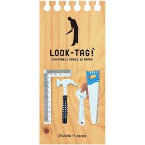 LOOK TAG! ツール 6個セット 付箋 メモ ルックタグ スティックラベル おもしろ かわいい 文房具 文具