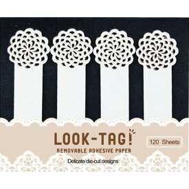 LOOK TAG! フラワー 6個セット 付箋 メモ ルックタグ スティックラベル おもしろ かわいい おしゃれ 文房具 文具