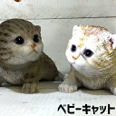 ベビーキャット クロール 猫 置物 リアル ねこ雑貨 ガーデン オーナメント おしゃれ オブジェ