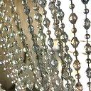 送料込み おしゃれ カーテン かわいい のれん ロング 180cm 仕切り ビーズのれん キラキラ ビーズカーテン(BC0570CL) …