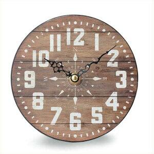オールドルック テーブルクロック コンパス 時計 置時計 アナログ アンティーク アメリカン雑貨