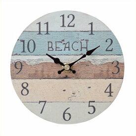 39909a05d7 オールドルック ウォールクロック ビーチ カラー 時計 壁掛け アナログ アンティーク アメリカン雑貨 壁掛け時計