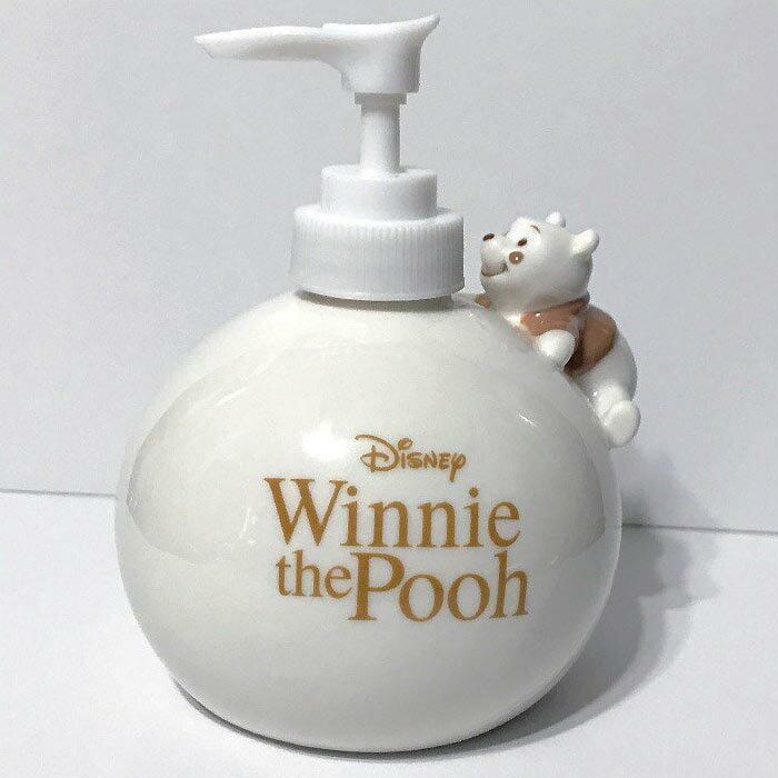 ソープディスペンサー くまのプーさん ソープディスペンサー 陶器 ハンドソープディスペンサー かわいい pooh ディズニー