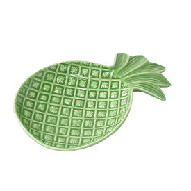 Symbol of Resort ラウンドプレート パイナップル 食器 オシャレ プレート 陶器 皿 小皿 取リ皿 オモシロ食器