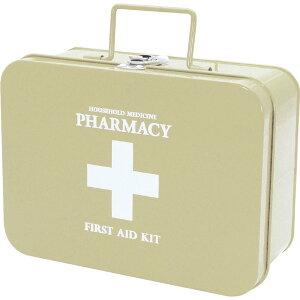 ファーマシー キャリーボックス BEIGE 救急箱 おしゃれ かわいい 薬箱 救急セット きゅうきゅうばこ