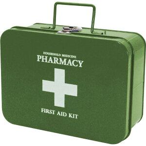 ファーマシー キャリーボックス KHAKI 救急箱 おしゃれ かわいい 薬箱 救急セット きゅうきゅうばこ