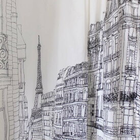 LANDSCAPE カーテン パリ カーテン おしゃれ のれん 暖簾 目隠し 間仕切り 白