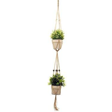 マクラメプランターハンギングジュートDプランターハンガープラントハンガー鉢吊るす吊り下げ観葉植物