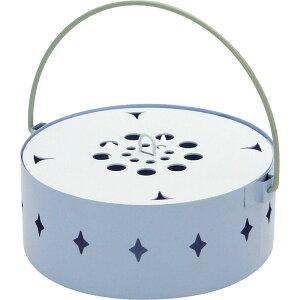 蚊取り箱 flower BLUE 蚊取り線香入れ 蚊取り線香ホルダー 蚊遣り フタ付き スイカ かわいい おしゃれ