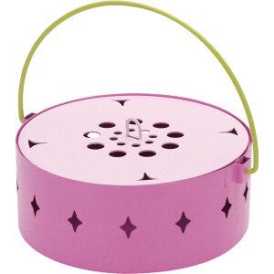 蚊取り箱 flower PINK 蚊取り線香入れ 蚊取り線香ホルダー 蚊遣り フタ付き スイカ かわいい おしゃれ