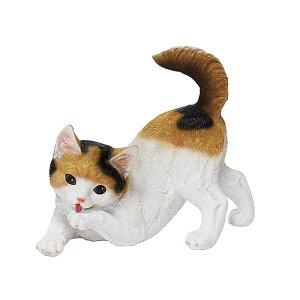 チアフルフレンズ 子猫のミウ ガーデン オーナメント 動物 猫 ガーデニング オーナメント ガーデン 置物 オブジェ かわいい