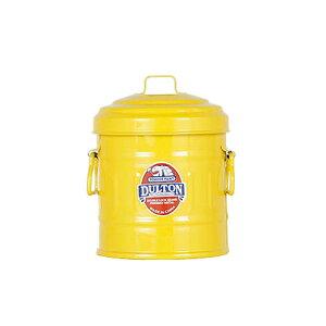 MICRO GARBAGE CAN YELLOW ダルトン DULTON バケツ ふた付 おしゃれ ミニバケツ 綿棒ケース ブリキ缶 小物入れ ふた付き 小物ケース 小物収納
