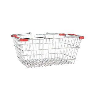 MARKET BASKET (S) CHR/RED ダルトン DULTON 収納 バスケット かご おしゃれ 小物入れ 洗濯かご 買い物かご ショッピングカート