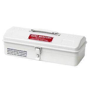 マーキュリー MJツールボックス クールホワイト MERCURY ペンケース おしゃれ かわいい ブリキ缶 蓋付き 小物入れ ふた付き 小物ケース