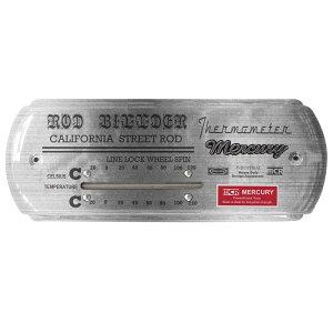 【あす楽】マーキュリー サーモメーター ワイド スチール MERCURY 温度計 アナログ おしゃれ 壁掛け 室温計 アンティーク