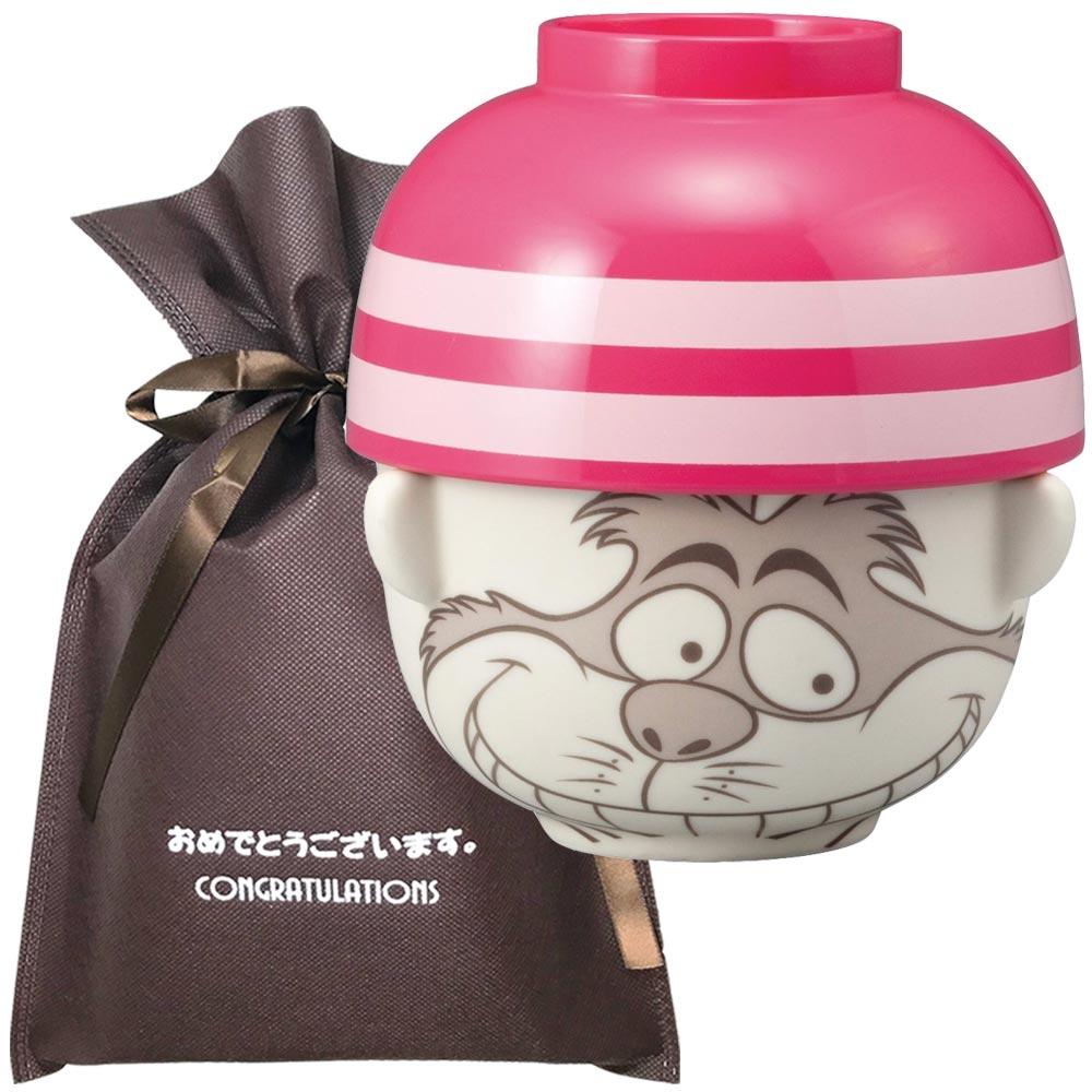 【おめでとうございますギフト】 汁椀茶碗セットミニ チェシャ猫【L】 プレゼント 女性 男性 雑貨 ユニーク 誕生日プレゼント お祝い ギフト ディズニーグッズ