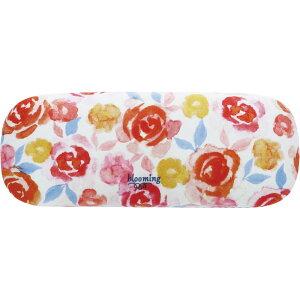 blooming メガネケース レッドオレンジ 眼鏡ケース かわいい おしゃれ スリム ハード 収納 プレゼント 可愛い コンパクト