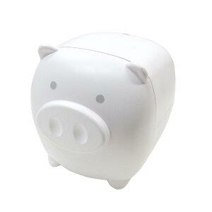 ベイブピギーバンク ホワイト からくり 貯金箱 ブタ 豚の貯金箱 おもしろ プレゼント
