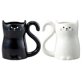 ねこのハートペアマグ ペア マグカップ 猫 ペアマグカップ カップル お揃い プレゼント ペア 結婚祝い