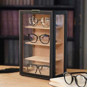 【あす楽】【送料無料】メガネタワー 4本用 メガネケース メガネスタンド メガネ 収納 コレクションケース ディスプレイケース