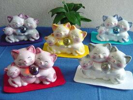 猫雑貨 置物 貯金箱 ハッピーキャット・親子