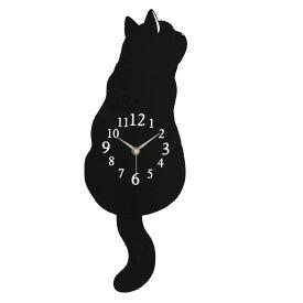 振り子時計(黒猫) 振り子時計 壁掛け 猫 雑貨 猫グッズ