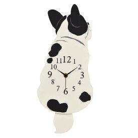 振り子時計(フレンチブルドッグ) 振り子時計 壁掛け 犬 好き プレゼント 犬グッズ
