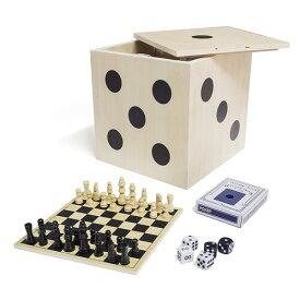 テーブルゲームセット 6種セット チェス チェッカー バックギャモン ポーカー ドミノ ポーカーダイス