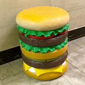 【あす楽】【送料無料】 おもしろ雑貨 イースね ハンバーガー ハンバーガー 椅子 スツール イス オブジェ 置物 インテリア