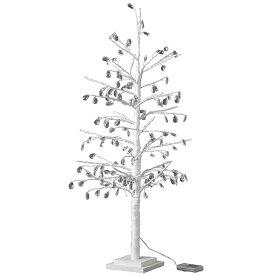 【送料無料】クリスマス LEDブランチツリー クリスタル ホワイト Lサイズ クリスマスツリー ホワイト led ライト おしゃれ 90cm usb アンティーク