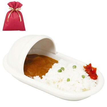 【送料込】おもしろ雑貨ユニーク食器ジョークグッズ便器のカタチのカレー皿(和式)【L】